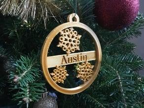Custom Ornament Medallion Snowflake