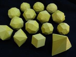 Hollow polyhedra: Catalan Solids