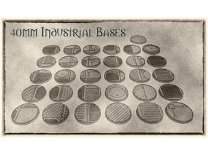 40mm Industrial Bases (x31) - For Warhammer 40k, Dungeons & Dragons, Pathfinder and more.