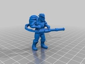 Troll  with tri-barrel minigun and drum mag.