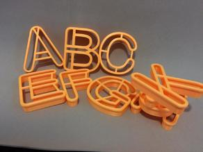 ALPHABET LETTERS COOKIE CUTTERS