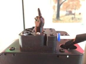 Rude extruder spinner for Monoprice Mini