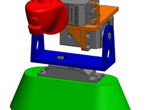 Parallax (Futaba) servo motor 3-axis mount