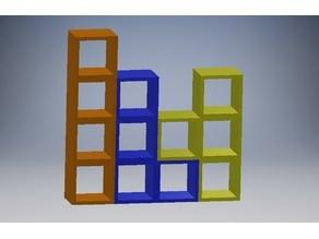 Tetris Themed Shelves