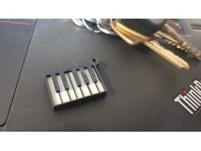 Piano Keyring