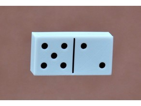 Bi-Color Dominoes (w Shells and Inserts) and Box