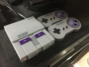 SNES Raspberry Pi 3 with functional switches, LED, and USB ports