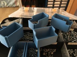 Small boxes for dividing double side storage box compartments