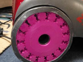 Spare wheel for vacuum cleaner