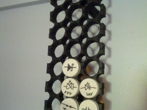 Pill bottle parts rack