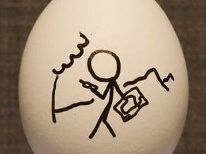 xkcd Geohashing Eggbot Design (outline / monochrome)