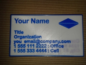 Business Card - Dual Extrusion