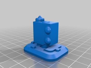 Silicone sock E3D mold Volcano v1 (old one with thermistor on the side)