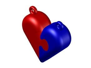 Puzzle Heart pendant
