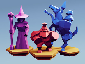Low Poly Fantasy Tabletop - Alliance Advanced Units