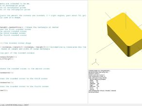 OpenSCAD Awesome 3D Rectangular Prism Curved Edge Generator