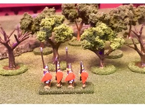 Wargaming Trees for Flocking - 15mm HotT