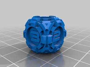 D6 Sci Fi Rounded Gears Dice - Numbers