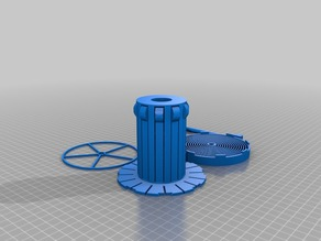 Parametric Auto-Rewind Spool Holder (For Hatchbox & AmazonBasics)