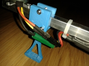 Quadro copter foot for 12mm x 12mm arm