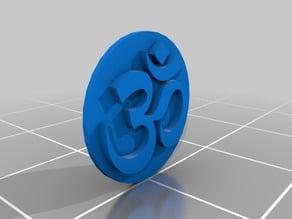 Om symbol keychain