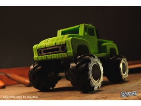 "Ford F100 Monstertruck simplified CNC Model ""Tamiya Midnight Pumpkin"""