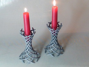 Wormhole Candle Holders
