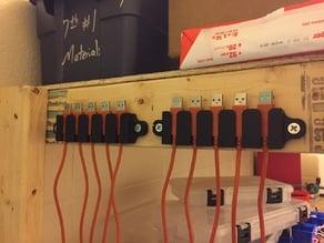 USB cord rack
