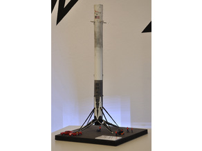 SpaceX Falcon 9 first landed orbital booster 1/87 scale (H0)