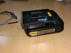 Dewalt 20v battery adapter with belt clip