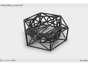 Hex Candle Cup - Voronoi