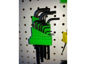 Pegboard Allen Wrench Holder
