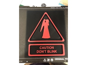 Weeping Angel - Don't Blink sign