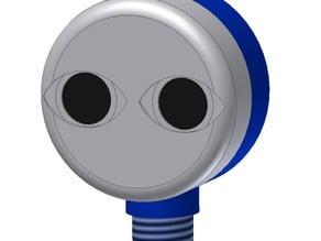 Ultrasonic sensor (HC-SR04) as a head