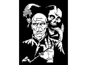 Voldemort stencil