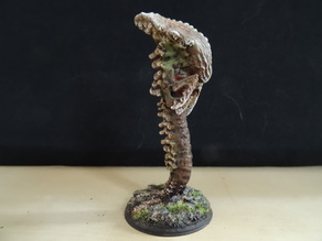 Tyranid Zoanthrope mixed with parts of spine candle holder instead of the tentacle