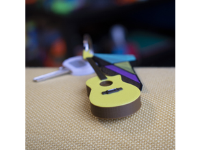 Multi-Color Guitar Keychain