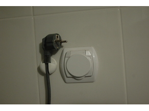 Power plug wall hanger