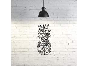 Pineapple wall sculpture 2D