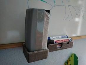 whiteboard marker eraser holder / Sujeta rotuladores y borrador para pizarra blanca