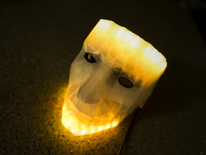 LED low poly mask