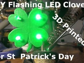 DIY Light Up Clover for St  Patrick's Day