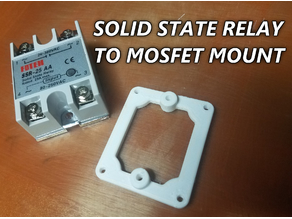 Solid State Relay ( SSR ) to Mosfet Mount