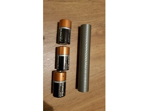 3x D to 2x 18650 battery reducer