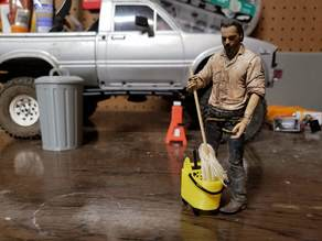 1/10 Scale Garage Mop Bucket