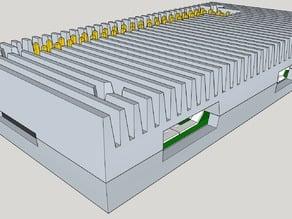 Matchplate parts for Aluminum sand cast for Raspberry Pi Zero v 1.3 case