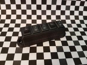 micro 12v Rocker Switch Block (5 pcs) / micro 12V Schalterblock (5 Stück)