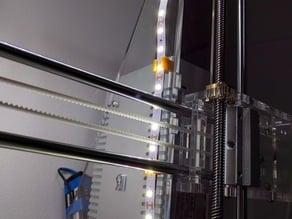 Led stripe holder for 6mm prusa frame