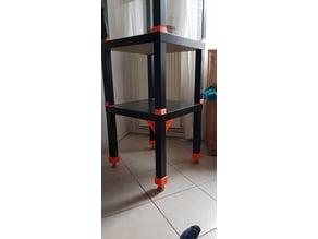 Ikea Lack adjustable foot base