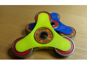 Open wheel four bearing fidget spinner